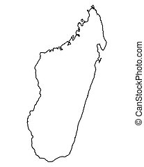 landkarte, madagaskar