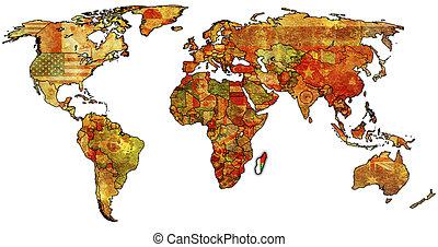 landkarte, madagaskar, welt