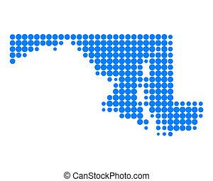 landkarte, maryland