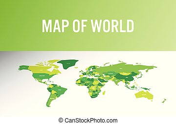 landkarte, modern, abbildung, vektor, welt, design.