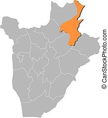 landkarte, -, muyinga, burundi