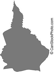landkarte, -, nana-grebizi, (central, republic), afrikanisch
