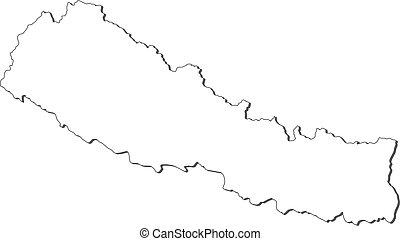 landkarte, nepal