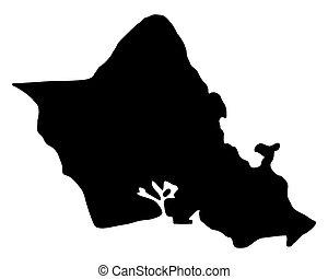 landkarte, oahu