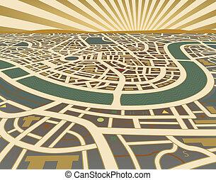 landkarte, perspektive