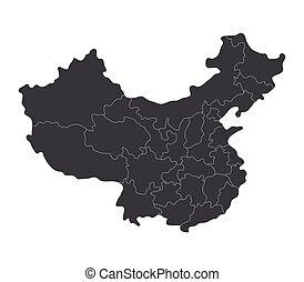landkarte, porzellan