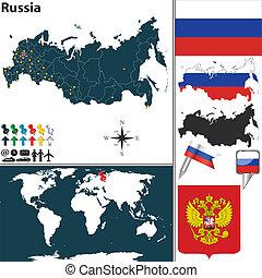 landkarte, russland