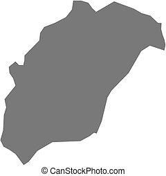 landkarte, rutana, -, (burundi)