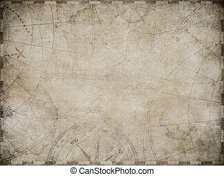 landkarte, schatz, hintergrund, abbildung, paßte