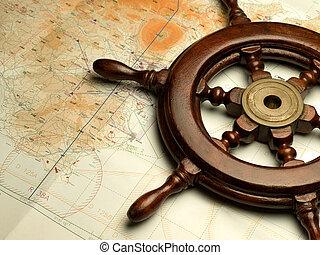landkarte, schifffahrt