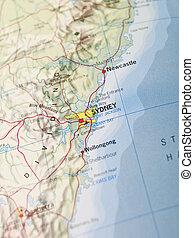 landkarte, sidney