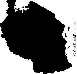 landkarte, silhouette, land, abbildung, vektor, schwarzer hintergrund, thailand, ränder, weißes
