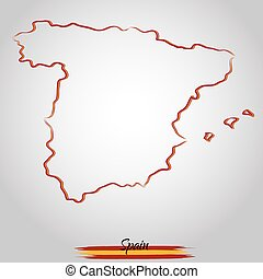 landkarte, spanien