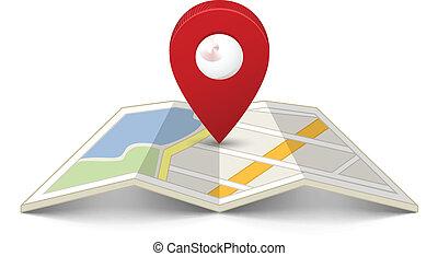 Landkarte, Stift