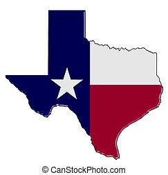landkarte, texas