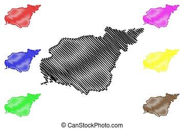Landkarte Tunceli Turkei Turkei Landkarte Hervorgehoben