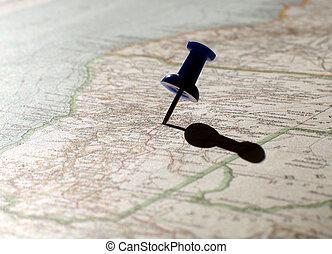 landkarte, unbekannt