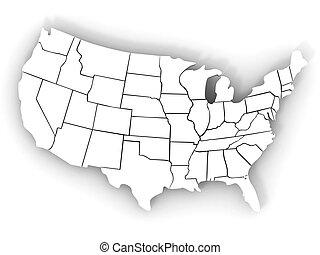 landkarte, usa