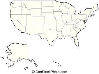 Simlified Leer Usa Landkarte Landkarte Vereint Simlified