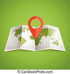 landkarte, verschieden, ausgewählt, afrikas, welt, marks.