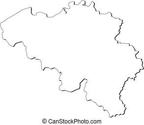 Belgien Karte Umriss.Belgien Landkarte States Politisch Mehrere Clipart Vektor
