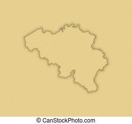 landkarte, von, belgien
