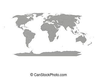 landkarte, von, der, world.