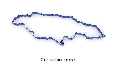 landkarte, von, jamaica.