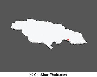 landkarte, von, jamaika