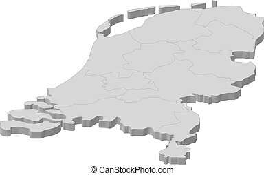 landkarte, von, niederlande