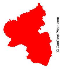 landkarte, von, rheinland-pfalz