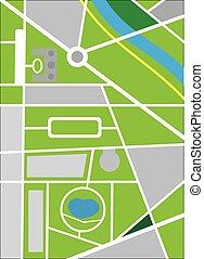 landkarte, zentrieren, stadt