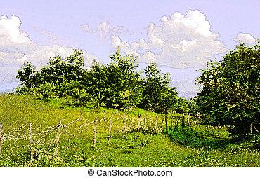 landlig scene