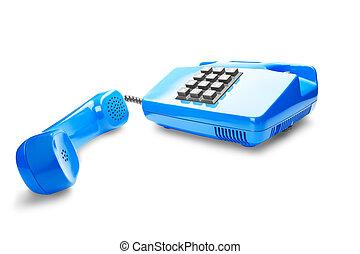 landline phone on a isolated white background - landline ...