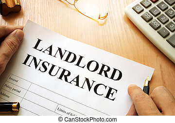 Landlord insurance on a desk.