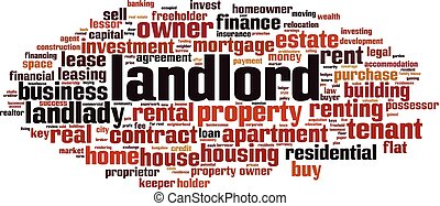 Landlord word cloud concept. Vector illustration