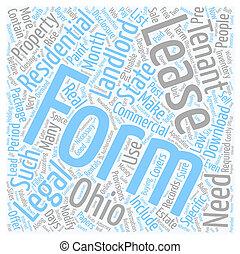 landlords, fogalom, szöveg, jogi, alakít, wordcloud, háttér, ohio