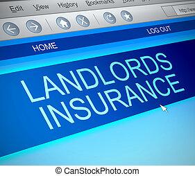 Landlords insurance concept. - Illustration depicting a...