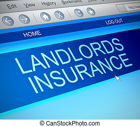 Landlords insurance concept. - Illustration depicting a...