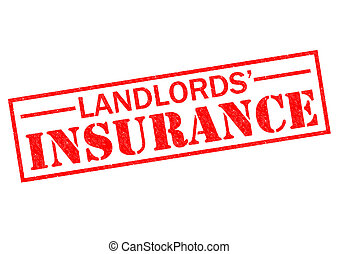 LANDLORDS' INSURANCE red Rubber Stamp over a white...