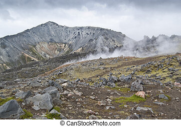 Landmannalaugar - Volcanic landscape in Landmannalaugar...