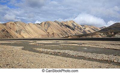 Landmannalaugar volcanic landscape,