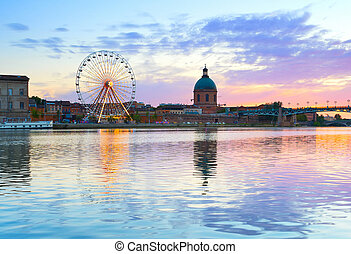 Landmark architecture of Toulouse, France
