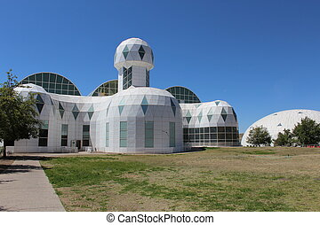 Landmark Biosphere 2 Living Area - Living quarters building...