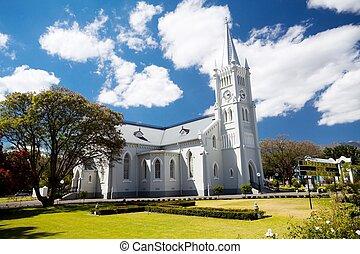 landmark church building in Robertson