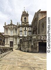 Landmark Gothic church facade of Saint Francis Igreja de Sao...