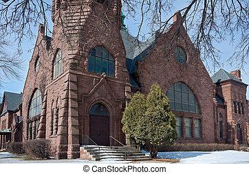 Landmark Minneapolis Church Corner and Facade
