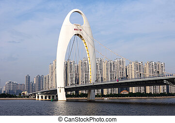 Cable-Stayed Bridge - Landmark of a Cable-Stayed Bridge in...