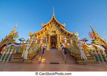 Landmark of wat Thai, Beautiful temple in Thailand