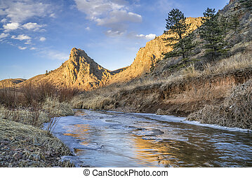 landmark rock and river in northern Colorado - Eagle Nest ...